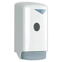 Liquid Soap Dispenser, Model 22, 800-ml, 5 1/4w X 4 1/4d X 10 1/4h, White