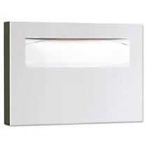 Toilet Seat Cover Dispenser, 15-3/4 x 2 x 11, Satin Stainless Steel