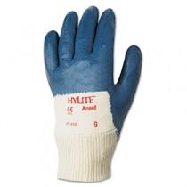 Hylite Medium-Duty Multipurpose Gloves, Size 10, Cotton/Nitrile, Blue/White