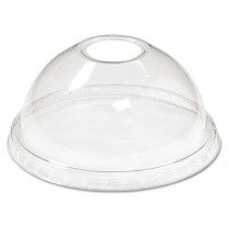 Cold Cup Dome Lids, Fits 12-24oz Cups, Clear