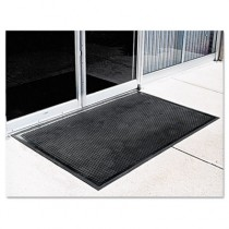 Crown-Tred Indoor/Outdoor Scraper Mat, Rubber, 34-1/2 x 58, Black