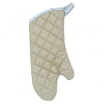 "Flameguard Oven Mitt, 15"", One Size Fits All, Terrycloth, Tan"