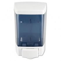 ClearVu Bulk Foam Soap Dispenser, 5.5w x 4.5d x 8.5h 46-oz, White/Clear