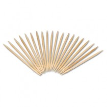 """Round Wood Toothpicks, 2 3/4"""", Natural, 19200/Case"""