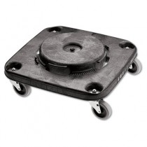 Brute Container Square Dolly, 300 lbs, Black