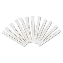 """Cello-Wrapped Round Wood Toothpicks, 2 3/4"""", Natural"""