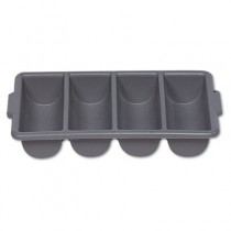 Cutlery Bin, Four Compartments, Gray