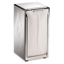 Tabletop Napkin Dispenser, Tall Fold, 3-3/4 x 4 x 7-1/2, Capacity: 150, Chrome
