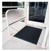 Finger-Tip Indoor/Outdoor Scraper Mat, Molded Rubber, 36 x 72, Black
