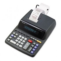 EL2196BL Two-Color Printing Calculator, 12-Digit Fluorescent, Black/Red