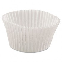 "Fluted Bake Cups, 4 1/2"" dia x 1 1/4h, White"