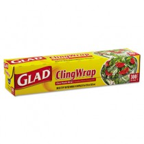 "Plastic Cling Wrap, 12"" x 300 ft, Clear"
