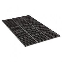 Safewalk Heavy-Duty Anti-Fatigue Drainage Mat, General Purpose, 36 x 60, Black