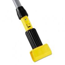 "Gripper Aluminum Mop Handle, 60"", Gray/Yellow"