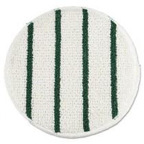 """Low Profile Scrub-Strip Carpet Bonnet, Carpet,19"""", White/Green"""