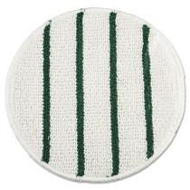 """Low Profile Scrub-Strip Carpet Bonnet, Carpet, 21"""", White/Green"""