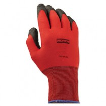 NorthFlex Red Foamed PVC Gloves, Red/Black, Size 9L