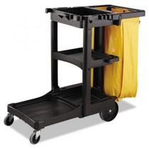 Vinyl Cleaning Cart Bag, 26 gal, Yellow, 17 1/2w x 10 1/2d x 33h