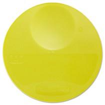 Round Storage Container Lids, 10 1/4dia x 1h, Yellow