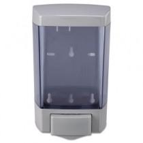 Plastic Soap Dispenser, 46-oz, 5-1/2w x 4-1/4d x 8-1/2h, Transparent Gray