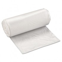 High-Density Can Liner, 24 x 33, 16-Gallon, 8 Micron, Clear, 50/Roll