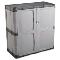 Double-Door Storage Cabinet - Base, 36w x 18d x 36h, Gray/Black