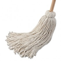 Deck Mop w/54 in. Wooden Handle, 21 oz. Cotton Fiber Head