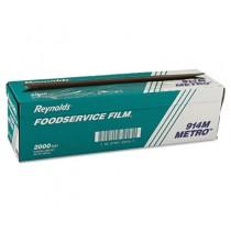 "Metro Light-Duty PVC Film Roll w/Cutter Box, 18"" x 2000 ft, Clear"