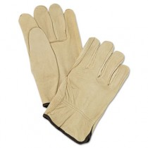 Unlined Pigskin Driver Gloves, Cream, Large