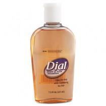 Body & Hair Care, Peach Scent, Clear Amber, 7.5 oz Flip Cap D�cor Bottle