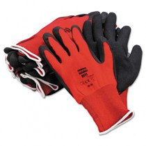 NorthFlex Red Foamed PVC Gloves, Red/Black, Size 10XL