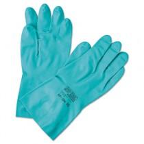 Sol-Vex Sandpatch-Grip Nitrile Gloves, Green, Size 7