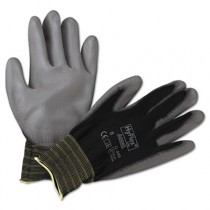 HyFlex Lite Gloves, Black/Gray, Size 8