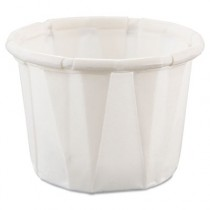 Treated Paper Souffl� Portion Cups, 1/2 oz., White, 250/Bag