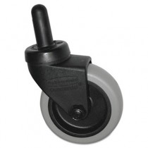 Replacement Swivel Caster, Bayonet, 3in Wheel, Black