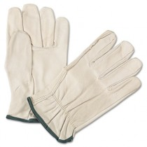 4000 Series Leather Driver Gloves, White, Medium