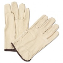 4000 Series Pigskin Leather Driver Gloves, Large, Yellow