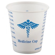 Paper Medical & Dental Graduated Cups, 3 oz., White/Blue, 100/Bag