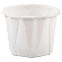 Treated Paper Souffl� Portion Cups, 3/4 oz., White, 250/Bag