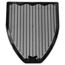 Disposable Urinal Floor Mat, Nonslip, Fresh Blast Scent, 17 1/2x20 3/8, BK, 6/CS