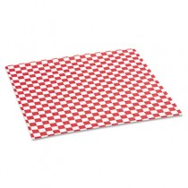 Grease-Resistant Paper Wrap/Liners, 12 x 12, Red Check, 1000 Sheets/Box
