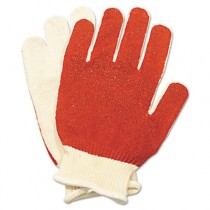 Smitty Nitrile Palm Coated Gloves, White/Red, Medium