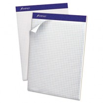 Evidence Quad Dual-Pad, Quadrille Rule, Letter, White, 100-Sheet Pad