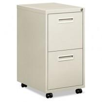 """Embark Series File/File Pedestal File w/2 """"M"""" Pull Drawers, 22d, Light Gray"""