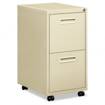 "Embark Series File/File Pedestal File w/2 ""M"" Pull Drawers, 22d, Putty"