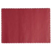 Solid Color Placemats, 9 3/4 x 14, Fire Red