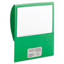Textured Stackit Folders, Letter Size, Green