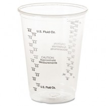 Plastic Medical & Dental Cups, Graduated, 10 oz, Clear, 50/Bag