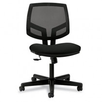 Volt Series Mesh Back Task Chair with Synchro-Tilt, Black Fabric