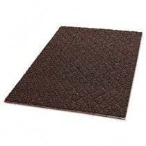 Diamond-Deluxe Duet Vinyl-Loop Floor Mat, Vinyl, 36 x 60, Brown/Caramel